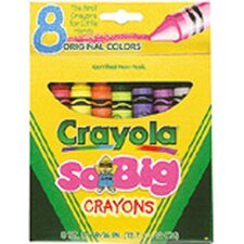 Crayons Jumbo 8ct Peggable Tuck Box (Set of 2)