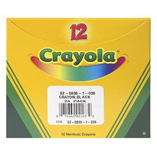 Crayola Bulk Crayon Regular - Black (Set of 3)
