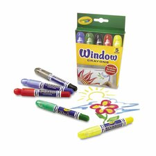 Washable Window Crayons (5 Pack) (Set of 2)