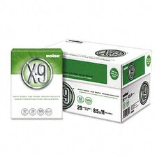 X-9 Copy Paper, 92 Brightness, 20 lb, 8-1/2 X 11, 5000 Sheets/Carton