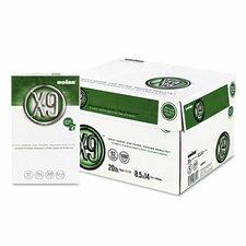 X-9 Copy Paper, 92 Brightness, 20 lb, 8-1/2 X 14, 5000 Sheets/Carton