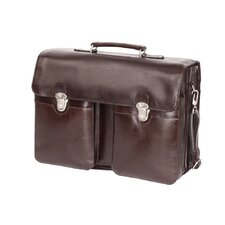 Large Executive Leather Laptop Briefcase