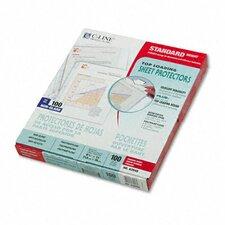 Non-Glare Standard Weight Polypropylene Sheet Protector (100/Box)