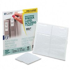 Self-Adhesive Ring Binder Label Holders, 1-3/4 X 3-1/4 (12/Pack) (Set of 2)