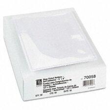 Self-Adhesive Shop Ticket Holders, 5 X 8, 50/Box