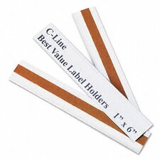 Label Holders, 6 X 1 (50/Pack)