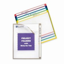 "Project Folders, Colored, 11""x8-1/2"", 25 per Box, Assorted"