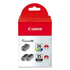 Ink Cartridge, Combo Pack, Black/Tri-Color