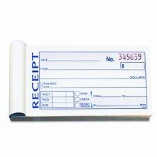 Money/Rent Receipt Book, 2-Part Carbonless, 50 Sets (Set of 3)
