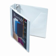 "Clearvue Premium Slant-D Vinyl Presentation Binder, 2"" Capacity"