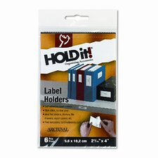 Self-Adhesive Label Holders for Binders, 8 per Pack (Set of 2)