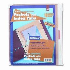 Ring Binder Divider Pockets with Index Tabs (5/Pack) (Set of 2)