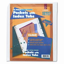 Ring Binder Divider Pockets with Index Tabs, 8-1/2 X 11 (5/Pack) (Set of 2)
