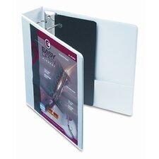 """Recycled Clearvue Easyopen Vinyl D-Ring Presentation Binder, 2"""" Capacity"""