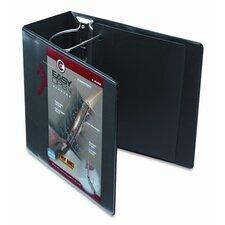 """Recycled Clearvue Easyopen Vinyl D-Ring Presentation Binder, 5"""" Capacity"""