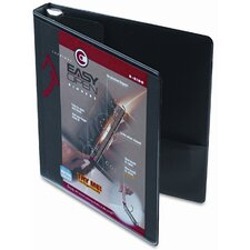 "Recycled Clearvue EasyOpen Vinyl D-Ring Presentation Binder, 1"" Cap"