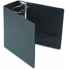 Leather Grain Vinyl EasyOpen D-Ring Binder w/Finger Slot