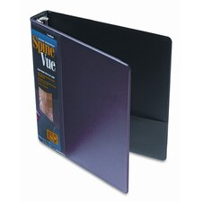 "Spinevue Round Ring View Binder, 1.5"" Capacity"