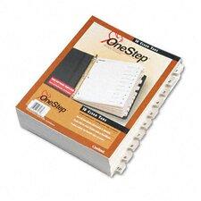 Quickstep Onestep Bulk Index System, Title: 1-10, Letter (24 Sets/Box)