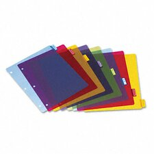 Poly Index Dividers, 4 Sets/Pack, 8-Tabs/Set, 4 Sets/Pack