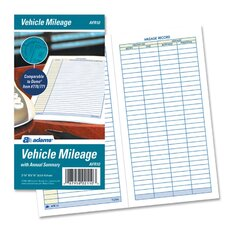 Vehicle Mileage Log, 6 1/4 x 3 1/4, 32 Forms (Set of 3)