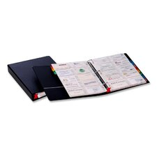 Card File Binder, Holds 400 Cards, Letter