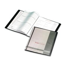 "Presentation Book, 12 Pockets, 11""x8-1/2"", Black"