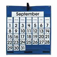 Monthly Calendar 43 Pocket Chart