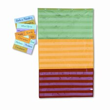 Adjustable Tri-Section Pocket with 18 Color Cards and Guide Chart
