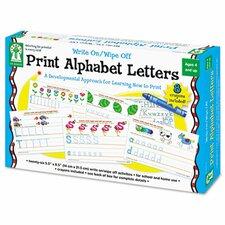 Write-On/Wipe-Off Print Alphabet Letters Activity  Set
