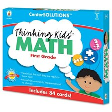 Center Solutions Thinking Kids Math Cards Grade 1 Level
