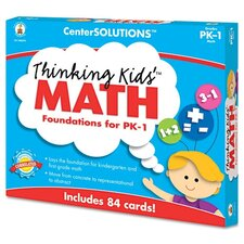 Center Solutions Thinking Kids Math Cards Pre-K and Grade 1 Level