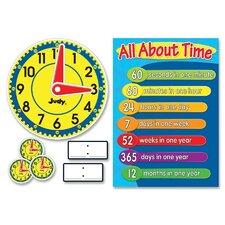 Clock Bulletin Board Cut Out Set