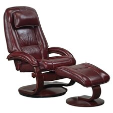 Oslo 52 Leather Ergonomic Recliner & Ottoman