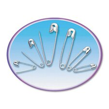 Safety Pins, Nickel-Plated, Steel, 50/Pack (Set of 4)