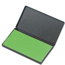 "Foam Ink Pad, 2-3/4"" x 4-1/4"", Nontoxic, Reinkable, Green (Set of 5)"