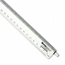 Chartpak Adjustable Triangular Scale Aluminum Engineers Ruler