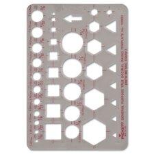 Chartpak Geometric Shapes and Symbols Templates Art Kit
