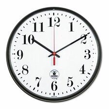 "Atomic Slimline 12.75"" Wall Clock"