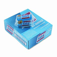 S.O.S All-Surface Scrubbing Sponge, 3 x 5-1/4, 1 Thick, 3 Sponges/pack