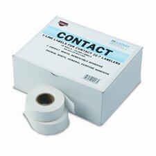 "Garvey One-Line Pricemarker Removable Label, 0.43"" x 0.8"", 1200/Roll, 16 Rolls/Box"
