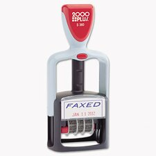 2000 Plus Self-Inking Two-Color Word Dater Stamp with Faxed Message