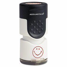 Accustamp Pre-Inked Round Stamp with Microban