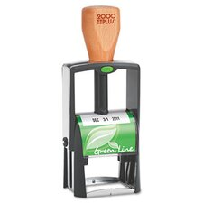 Line Self-Inking Heavy Duty Stamp in Green and Black