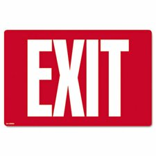Exit Glow-In-The-Dark Sign in Red (Set of 2)