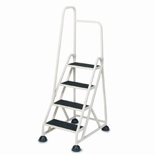 5.52 ft Aluminum Stop-Step Handrail Step Ladder with 300 lb. Load Capacity