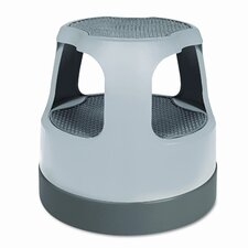 2-Step Plastic Step Stool with 300 lb. Load Capacity