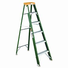 6 ft Fiberglass Step Ladder with 225 lb. Load Capacity