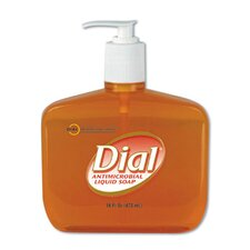 Gold Antimicrobial Soap Unscented Liquid Pump Bottle - 16-oz.