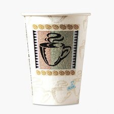Coffee Dreams Design Paper Hot Cups, 12 Oz., 50/Pack